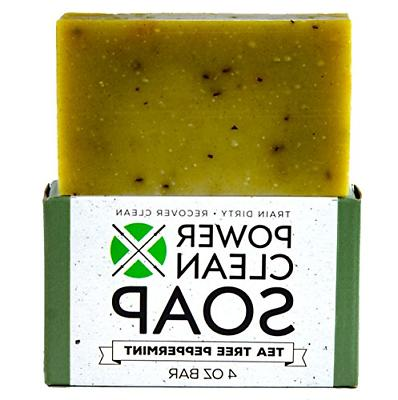 tea tree peppermint organic bar soap