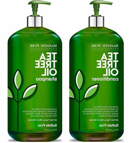MAJESTIC PURE Tea Shampoo and Conditioner Set-16 fl oz
