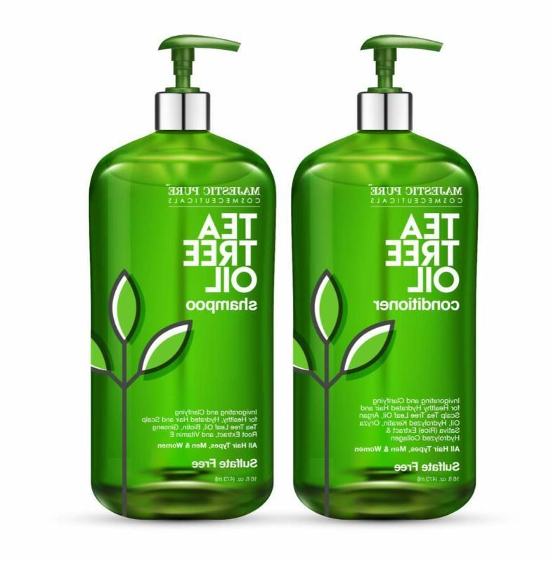 Majestic Pure Tea Tree Shampoo And Conditioner Set For Men A