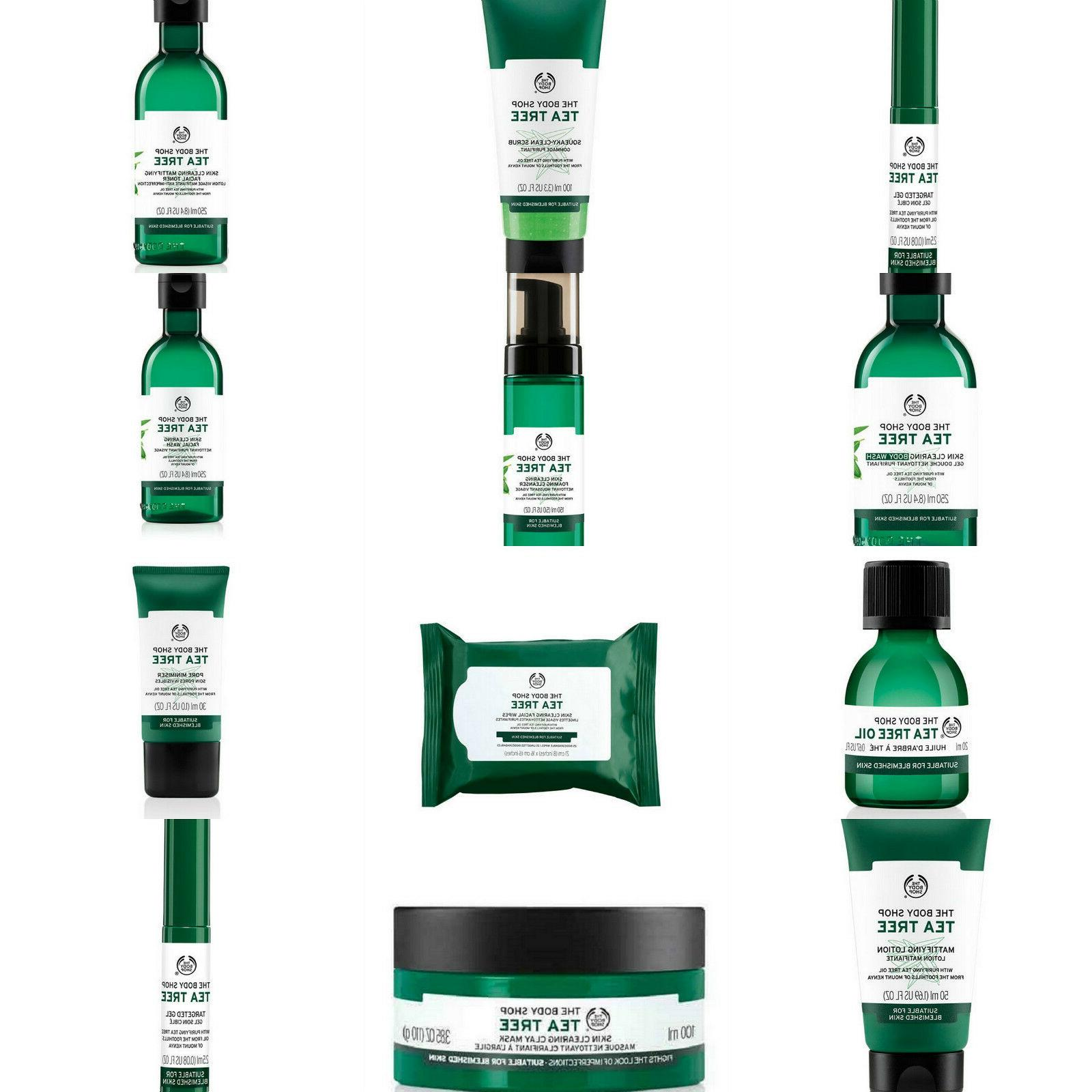 tea tree skin clearing products treat blemishes