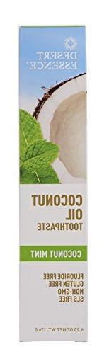 Desert Essence Tea Tree Toothpaste With Coconut Oil Mint