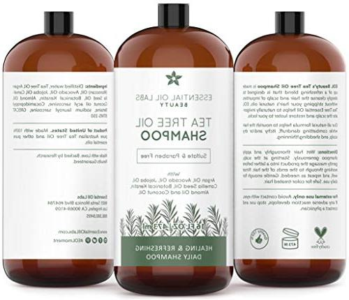 Tea Tree Shampoo, with - - ounce by Essential Oil Labs