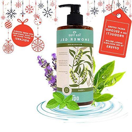 Tea Oil Body Oily Skin oz pH Antibacterial, Antiseptic Antifungal Natural Wash for Men & Soap & Australia By