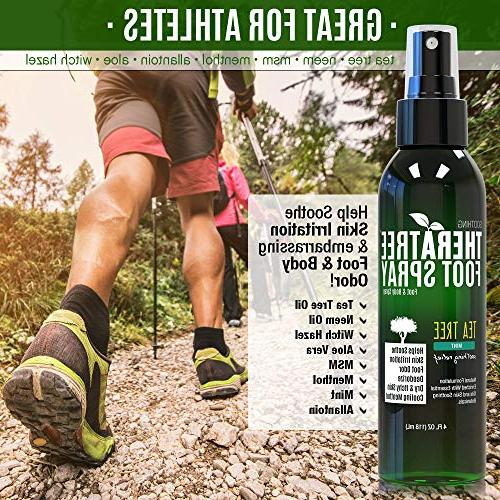 Shoe & Foot Odor with Tea Neem, MSM & Soothing Skin Irritation. for