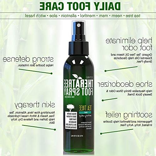 TheraTree Spray Shoe with MSM Soothing for Athletes.