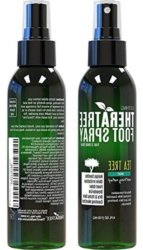 TheraTree Shoe & Foot Odor with Tea Tree, Neem, MSM Soothing Irritation. Great for