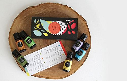 Top 6 100% Therapeutic Grade Basic Aromatherapy Sampler Oil Gift Set- Eucalyptus, Lavender , Lemon, Peppermint, Tea Tree by Garden