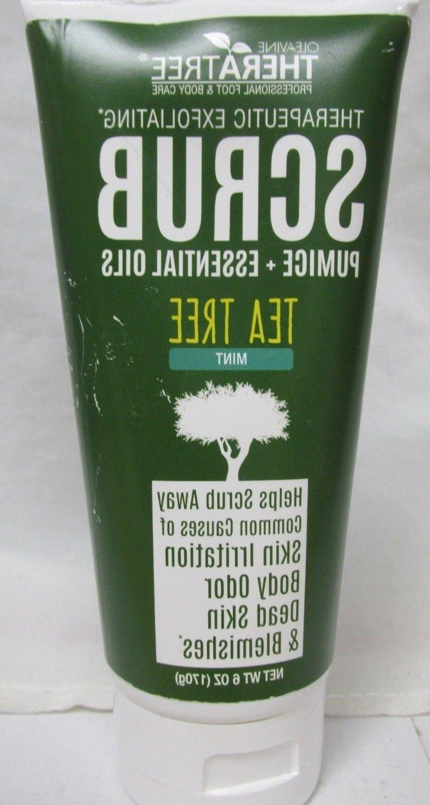 theratree therapeutic exfoliating scrub tea tree mint