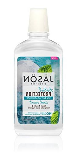 JASON Total Protection Cool Mint Sea Salt Mouth Rinse, 16 Ou