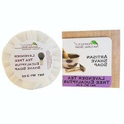 Lavender Eucalyptus Tea Tree All Natural Artisan Shave Soap,