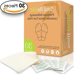 Soul Relife | Premium Lavender Foot Pads | 30-Pack | Odor Fr