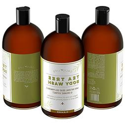 Calily Life Organic Tea Tree Oil Antibacterial Body Wash wit