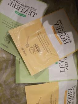 Lot X 4! Secret Key Nature Recipe Mask 2 Honey 2 Tea Tree Si