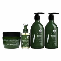 Luseta Tea Tree & Argan Oil Hair Care Set Natural Sulfate Fr
