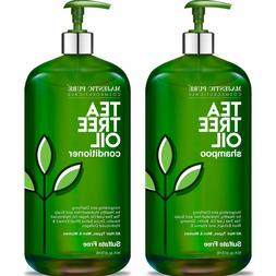 MAJESTIC Tea Tree Shampoo and Conditioner Set for Men and Wo