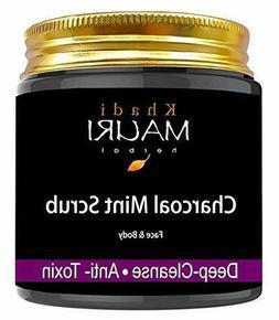 Khadi Mauri Herbal Charcoal Mint Tea Tree Oil Face Scrub & P