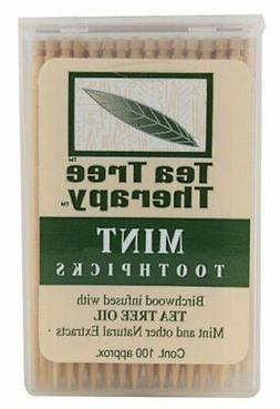 Tea Tree Therapy Mint Toothpicks 100 Ct  )