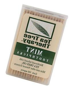 Tea Tree Therapy Mint Toothpicks 100 Ct  100 Each