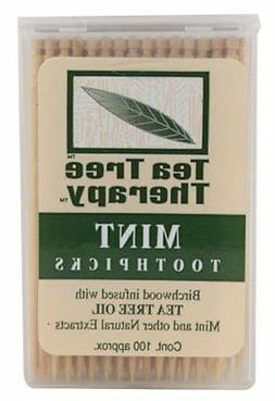 Tea Tree Therapy Mint Toothpicks 100 Ct Pack of 2