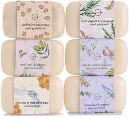 O Naturals 6 Piece Moisturizing Body Wash Soap Bar Collectio