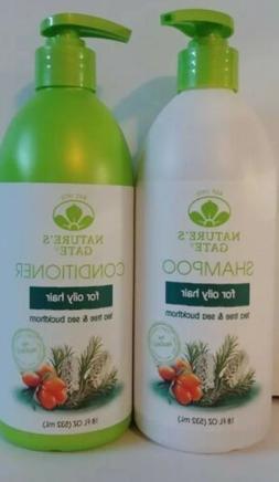 Nature's Gate Tea Tree & Sea Buckthorn Calming Shampoo and C