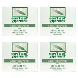 NEW TEA TREE THERAPY SUPPOSITORIES WITH TEA TREE OIL, 6 COUN