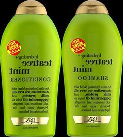 OGX Organix Tea Tree Mint Shampoo 19.5 oz + Conditioner 19.5