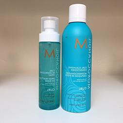 Moroccan Oil Curl Cleansing Conditioner 8.1 oz & Curl Re-Ene