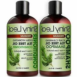 Tea Tree Oil Shampoo and Conditioner Set - Natural Anti Dand