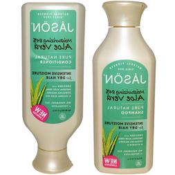 JASON All Natural Organic Aloe Vera Shampoo and Conditioner