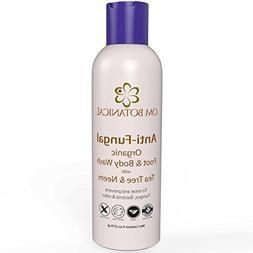 Organic Antifungal Tea Tree Oil Soap, Body Wash and Shampoo