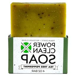 Tea Tree Peppermint Organic Bar Soap with Menthol 4oz
