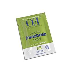 EO Organic Biodegradable Deodorant Wipes, Refresh On-the-go