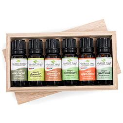 Plant Therapy Organic Essential Oil Sampler Gift Set in Wood