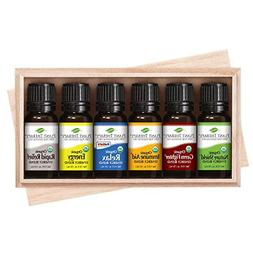 Plant Therapy Top 6 Organic Synergies Set | Essential Oil Bl