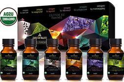 Stellar Naturals Organic USDA Aromatherapy Set of Lavender,