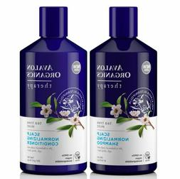 AVALON ORGANICS SCALP NORMALIZING SHAMPOO & CONDITIONER TEA