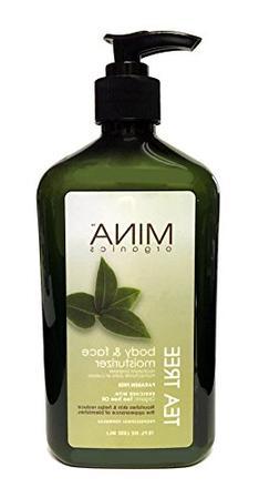 Mina Organics Tea Tree Body and Face Moisturizer 18oz - Fact