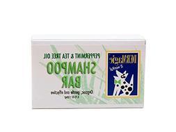 DERMagic Peppermint/Tea Tree Oil Shampoo Bar, 3.75 oz, Certi