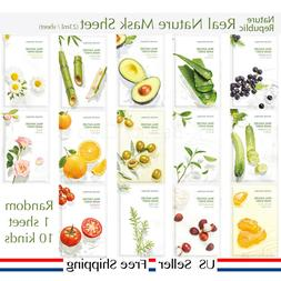 Nature Republic Real Nature Mask Sheet 14kinds choose one an
