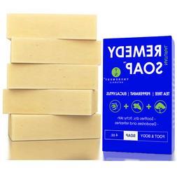 Remedy Natural Tea Tree Oil Soap Bar 5 Pack - Peppermint & E