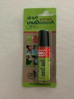 AromaGuru Roll-On Tea Tree Essential Oil NIP Sweet Almond Oi