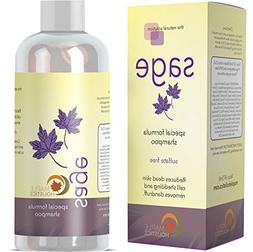 Sage Shampoo for Heavy Dandruff with Jojoba, Argan, and Orga