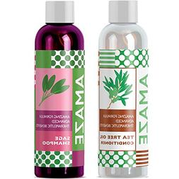 Sage Shampoo and Tea Tree Oil Conditioner Set for All Natura