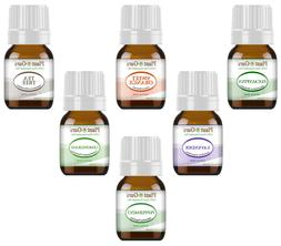 Essential Oil Gift Set Sampler Kit  6 - 5 ml. 100% Pure Ther