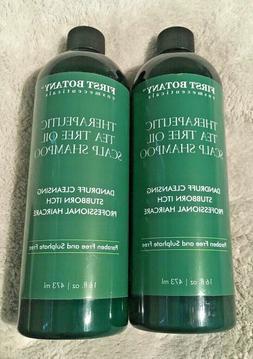 Set of 2 Tea Tree Oil Shampoo Anti Dandruff Natural Dry Itch