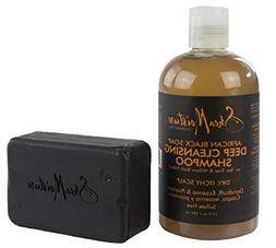 Shea Moisture African Black Soap Set - Shampoo & Bar Soap