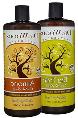 Dr. Woods Almond & Tea Tree Castile Soap, Body Wash with Org