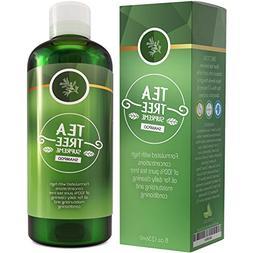Sulfate Free Tea Tree Shampoo Dandruff Treatment for Women &