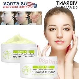 Tea Tree Acne Cream Face Anti Acne Marks Rough Pores Deep Cl